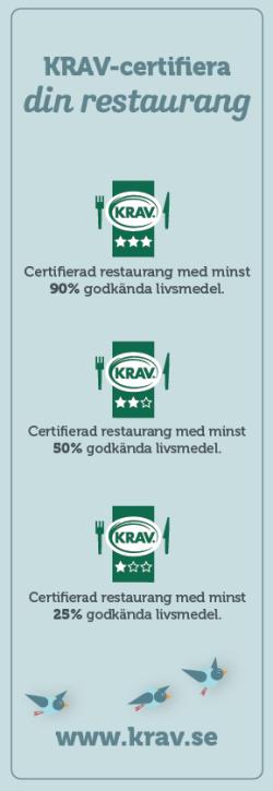 KRAV certifiera din restaurang